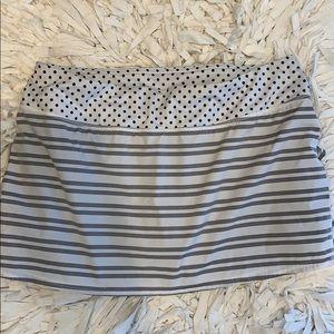 Lululemon pacesetter skirt, gray stripes, 10